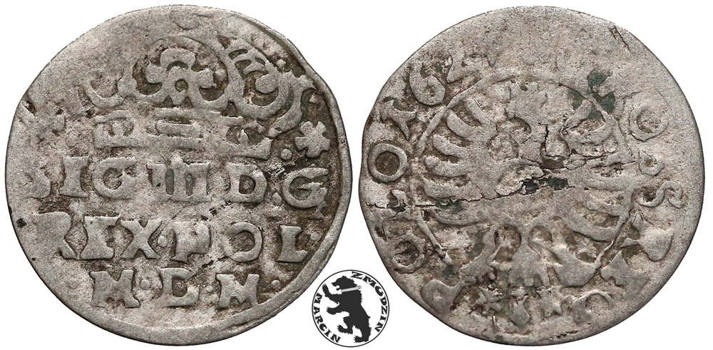 Grosz bydgoski 1624 z błędem M•D•M