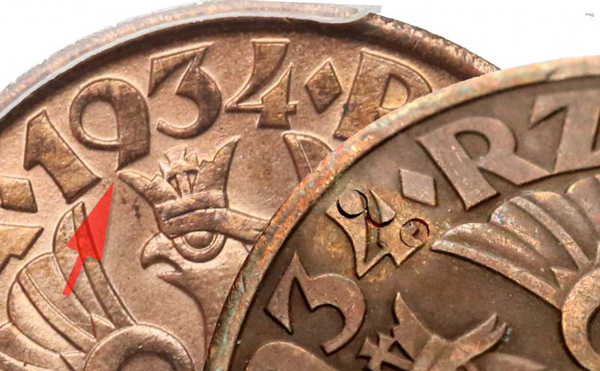 Jak rozpoznać fałszywe 5 groszy 1934