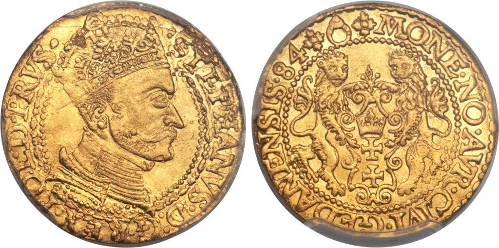 Fałszerstwo dukata 1584 z aukcji Heritage