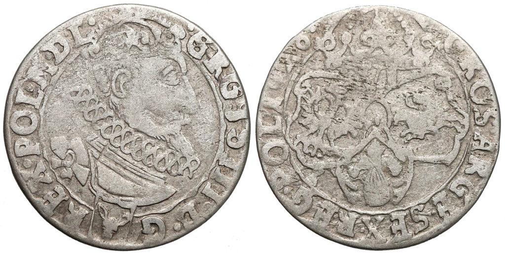Szóstak krakowski 1626 SIGIS / GROSS