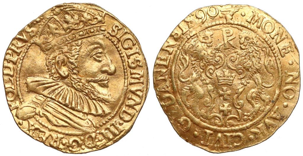 Fałszywy dukat gdański 1590