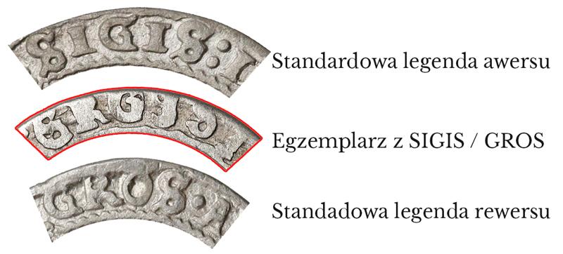 Porównanie legend na dwóch szóstakach 1626