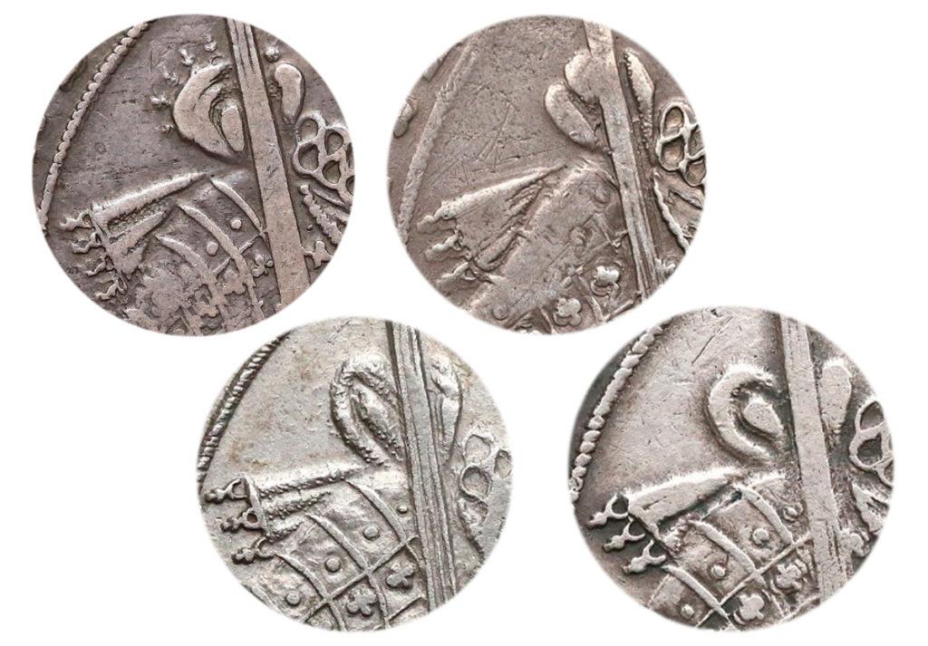 Przykłady szarf na talarach bydgoskich 1628