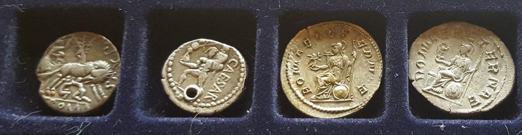 Monety z motywami związanymi z mitycznym początkiem Rzymu